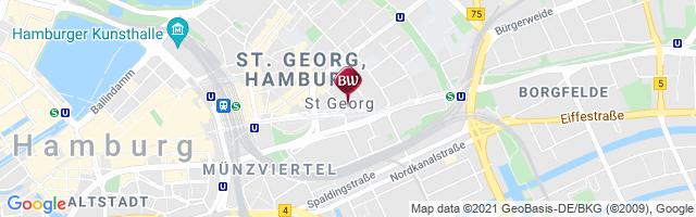 karte hotels hamburg Best Western Plus Hotel St. Raphael   Lage & Anfahrt